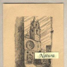 Postales: FELICITACIÓN NAVIDAD 1957 CAJA DE AHORROS PROVINCIAL TARRAGONA. IGLESIA SAN PEDRO REUS. CAMPANARIO. Lote 40778440