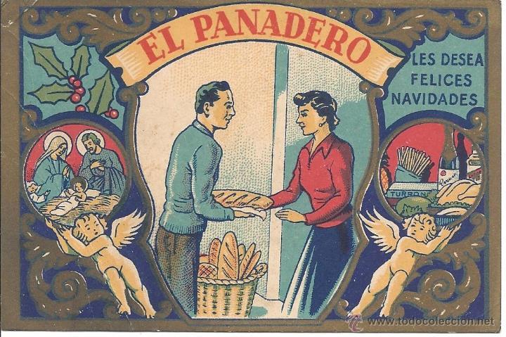 PS 0022 FELICITACIÓN GREMIOS - EL PANADERO - 1958 (Postales - Postales Temáticas - Navidad)