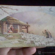 Postales - postal antigua portal Belen con pastores escrita años 40 - 41406603