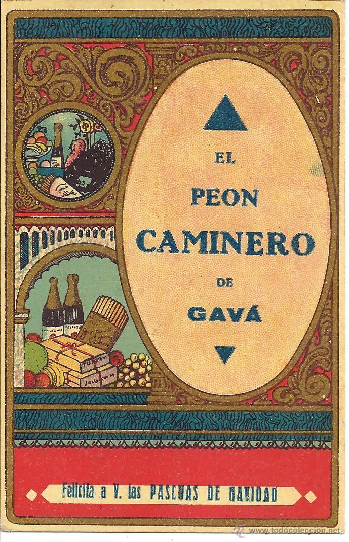 PS3415 FELICITACIÓN NAVIDEÑA DE GREMIOS 'EL PEÓN CAMINERO DE GAVÀ'. EN CASTELLANO. AÑOS 30 (Postales - Postales Temáticas - Navidad)