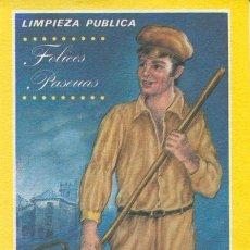 Postales: TARJETA NAVIDAD - LIMPIEZA PUBLICA - FELICES PASCUAS - EDICI. MORAGON. Lote 41853298