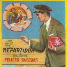 Postales: TARJETA NAVIDAD - EL REPARTIDOR LES DESEA FELICES PASCUAS. Lote 41900363