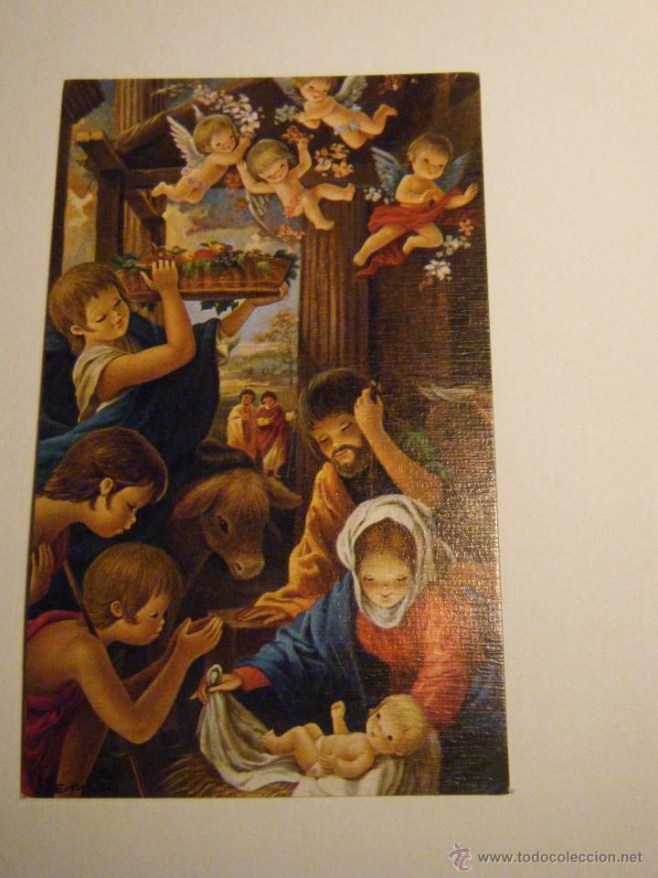 FELICITACIÓN DE NAVIDAD AÑOS 70 ILUSTRACIÓN VERNET (Postales - Postales Temáticas - Navidad)