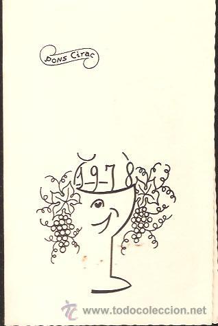 FELICITACIÓN NAVIDAD PONS CIRAC - 1978 (Postales - Postales Temáticas - Navidad)