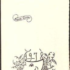 Postais: FELICITACIÓN NAVIDAD PONS CIRAC - 1978. Lote 42912811