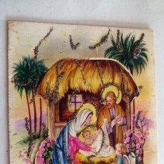 Postales: FELICITACIÓN DE NAVIDAD TROQUELADA . Lote 42935456
