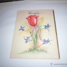 Postales: POSTAL FELICIDADES FELICITANDO LAS NAVIDADES. Lote 43125389