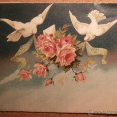 Postales: ANTIGUA, BONITA, CURIOSA Y ORIGINAL FELICITACIÓN D NAVIDAD SELLO COLEGIO DEL CORAZÓN DE JESÚS - 1911. Lote 43218859