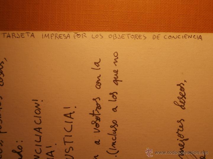 Postales: Postal - Impresa por los objetores de conciencia - La paz es demasiado importante para dejarla en - Foto 3 - 43235810