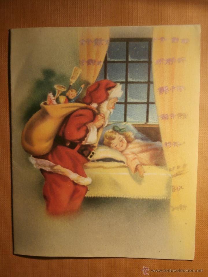 POSTAL NAVIDEÑA - EDITORIAL ARTIGAS - SERIE 4021 MOD. E - ESCRITA - 1953 - (Postales - Postales Temáticas - Navidad)