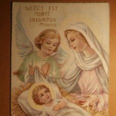 Postales: POSTAL - NAVIDAD - NATUS EST NOBIS SALVATOR MUNDI - ES 208 - ESCRITA 1957. Lote 43245385