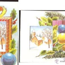 Postales: FELICITACIÓN NAVIDAD TROQUELADA ADORNADA CON PURPURINA. Lote 30324760