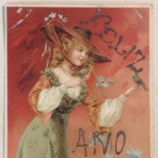 Postales: POSTAL FELICITACIÓN NAVIDAD AÑO 1906.. Lote 43942909