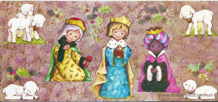 0636N - EDICIONES ORTIZ SERIE X906 - DIPTICA, GRANDE 22X10 CM - ILUSTRA MARIA (Postales - Postales Temáticas - Navidad)