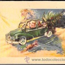 Cartes Postales: FELICITACIÓN NAVIDAD ALONSO ? * NIÑOS EN COCHE TRANSPORTANDO EL ARBOL *AÑO 1959. Lote 48926953