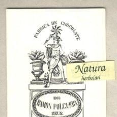 Postales: FABRICA DE CHOCOLATE RAMON FOLGUERA REUS. FELICITACIÓN NAVIDAD. POESIA J.M.ARNAVAT. Lote 44732103