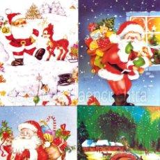 Postales: 4 POSTALES SANTA CLAUS-PAPA NOÉL COLECCIÓN NAVIDAD. Lote 36974656