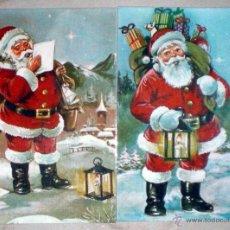 Postales: 2 POSTALES 572/1 Y 572/2 PERLA PROCESO PAGSA 1982 PAPA NOEL SANTA CLAUS NUEVAS. Lote 44832875