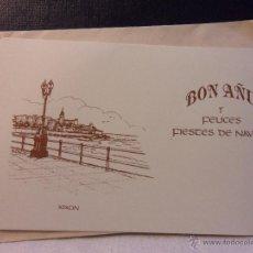 Postales: BON AÑU Y FELICES FIESTES DE NAVIDA. XIXON. TARJETA PARA FELICITAR LAS FIESTAS.. Lote 45122698