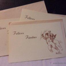 Postales: FELICES FIESTAS. LOTE DE 3 POSTALES IGUALES CON DIBUJO DE MARTA R. HERRERO.. Lote 45122859