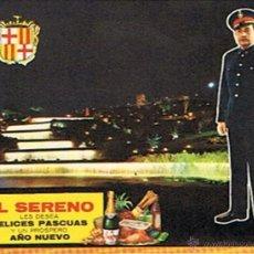 Postales: ANTIGUA FELICITACIÓN EL SERENO . Lote 45167005