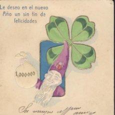 Postales: SIN FIN DE FELICIDADES PARA 1904. POSTAL ALEGÓRICA, CIRCULADA EN 1904. BUENA CONSERVACIÓN.. Lote 45188242