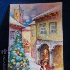 Postales: POSTAL NAVIDEÑA DOBLE DE LOS AÑOS 80, DE 17.3 X 11.3 CM. SIN CIRCULAR. MUSICAL . Lote 46090601