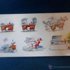 Postales: POSTAL NAVIDEÑA DOBLE DE LOS AÑOS 80, DE 21 X 10.5 CM. PLASTIFICADA Y SIN CIRCULAR. Lote 46090660