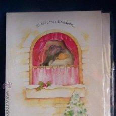 Postales: POSTAL NAVIDEÑA DOBLE, TROQUELADA, DE LOS AÑOS 80 SIN ESTRENAR. DE 22.5 X 16.5 CON SOBRE. . Lote 46129197