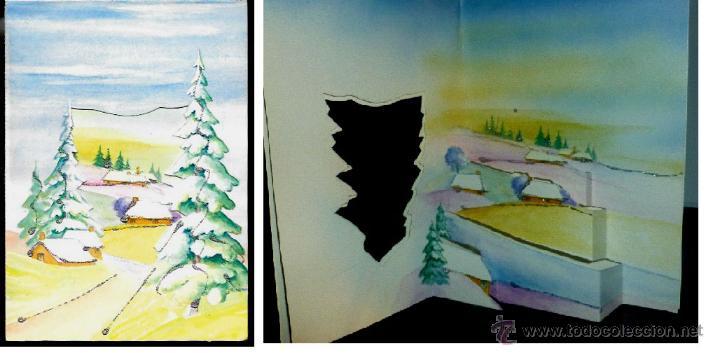 FELICITACION TROQUELADA NAVIDAD AÑO 1988 . ADORNADA CON PURPURINA (Postales - Postales Temáticas - Navidad)
