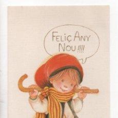 Postales: POSTAL NAVIDEÑA DE SALMONS .- GRAFICAS BUSQUETS DIPTICA. Lote 46446160
