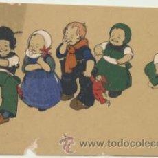 Postales: POSTAL. AL DORSO: EL REPARTIDOR LA FAMILIA FELICITA A V. LAS PASCUAS DE NAVIDAD. BARCELONA.. Lote 46546416