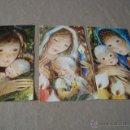 Postales: LOTE DE 3 POSTALES NAVIDEÑAS APROX 70 VIRGEN Y NIÑO COLECCION PERLA. Lote 48640152