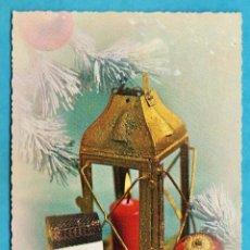 Cartes Postales: POSTAL NAVIDAD / FELICITACION NAVIDEÑA - FAROL CON VELA - ED. SAR / ITALIA - NUEVA - AÑOS 60. Lote 46609902