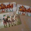 Postales: LOTE 3 TARJETAS NAVIDAD AÑOS 70 APROX COCHES CABALLOS. Lote 46683073
