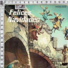 Postales: TARJETA POSTAL NAVIDAD-FONO DISCO-PUBLICIDAD DE LABORATORIO-1959.. Lote 47122917