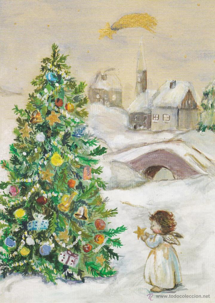 Postal navidad a estrela original pintado c comprar - Postal navidad original ...