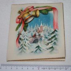 Postales: BONITA TARJETA ANTIGUA CON FELICITACION NAVIDEÑA, JBR, 1952. Lote 47257242