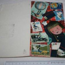Postales: BONITA TARJETA ANTIGUA CON FELICITACION NAVIDEÑA CON EFECTO 3D ABRE OJOS, SUBI, JUAN FERRANDIZ, 1964. Lote 47259009