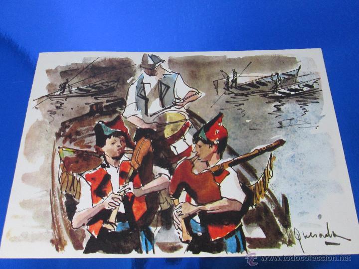 POSTAL-DEL BANCO HISPANO AMERICANO-FELICITACIÓN NAVIDAD 1973-QUESADA-GAITEROS EN LAS RIAS BAJAS-ANTI (Postales - Postales Temáticas - Navidad)