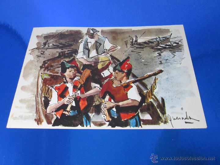 Postales: POSTAL-DEL BANCO HISPANO AMERICANO-FELICITACIÓN NAVIDAD 1973-QUESADA-GAITEROS EN LAS RIAS BAJAS-anti - Foto 2 - 117329900