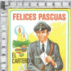 Postales: POSTAL FELICITACIÓN EL CARTERO FELICES PASCUAS.. Lote 142584364