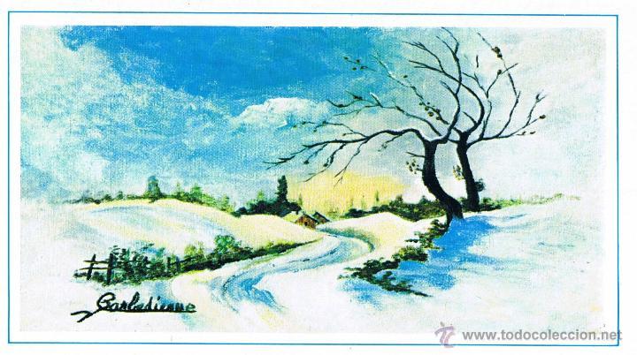 Postal navidad paisaje nevado comprar postales antiguas - Paisaje nevado navidad ...