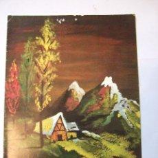 Postales: TARJETA DOBLE NAVIDAD - PAISAJE NEVADO - 1966 - ESCRITA - 16X12. Lote 48539568