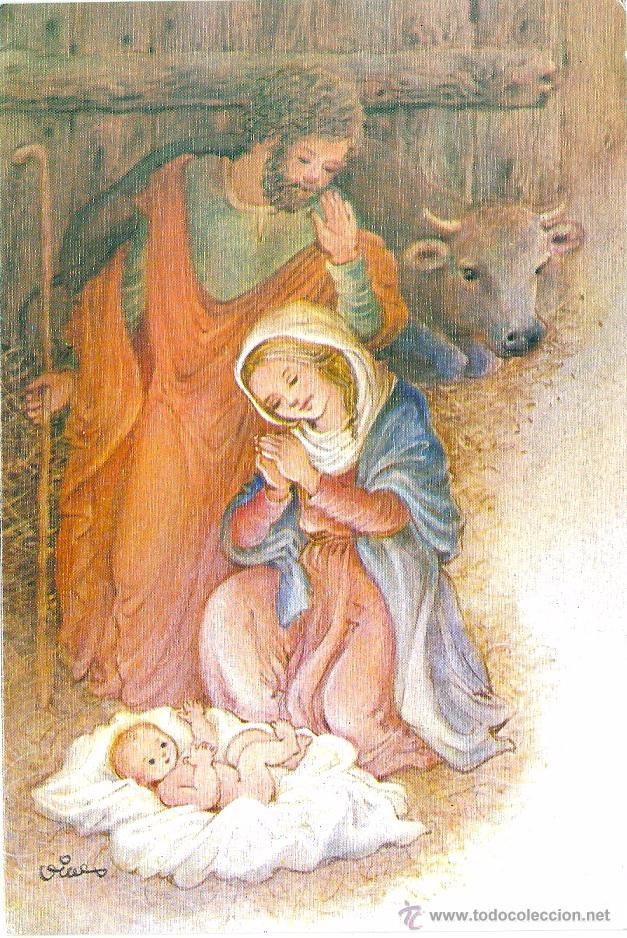 0774U - EDICIONES EDICROMO SERIE 7761.2 - DIPTICA 17X11,5 CM - DATA 1986- ILUSTRA VIVES (Postales - Postales Temáticas - Navidad)