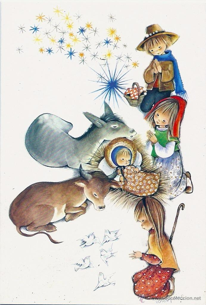 0786U - ROSER PUIG - EDICIONES SABADELL SERIE BETLEM 2357.4 - DIPTICA 13X9 CM - DATA 1970 (Postales - Postales Temáticas - Navidad)