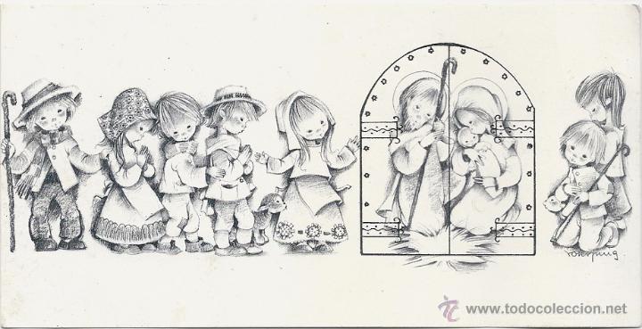 0784U - ROSER PUIG - EDICIONES SABADELL SERIE AVET 02.33.004.2- 16,8X8,5 CM- DATA 1972 (Postales - Postales Temáticas - Navidad)