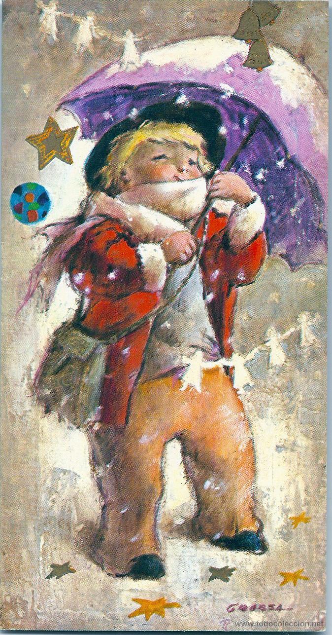 0798U - GRASSA - EDICIONES ORTIZ X 342- DIPTICA 16X8,5 CM (NUEVA) IMPRESA EN 1971 (Postales - Postales Temáticas - Navidad)