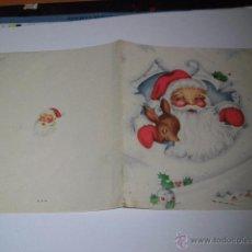 Postales: TRAJETA DE FELICITACION NAVIDEÑA FECHADA 1950. Lote 49154409