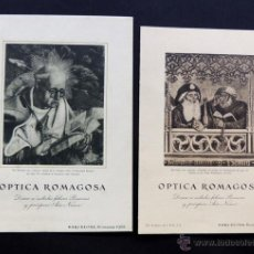Postales: 2 TARJETAS NAVIDAD 1951 - 1952 / OPTICA ROMAGOSA / BARCELONA. Lote 280642018